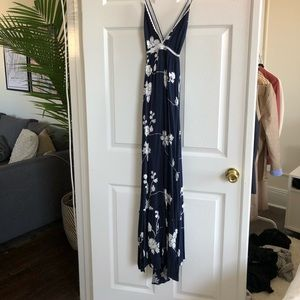 Dresses - Navy and white floral dress